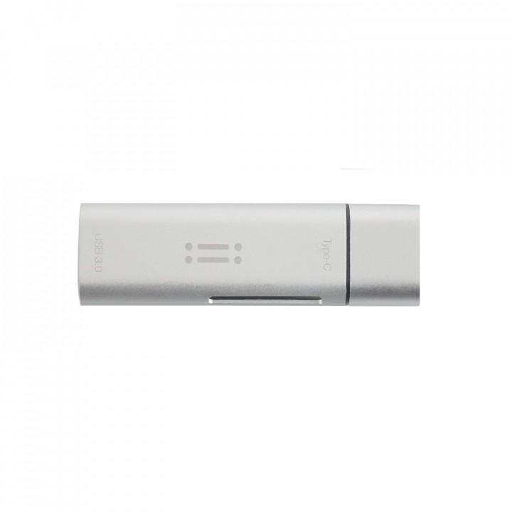 Aiino - 4 in 1 USB C + SD/TF card reader + USB 3.0 - Silver