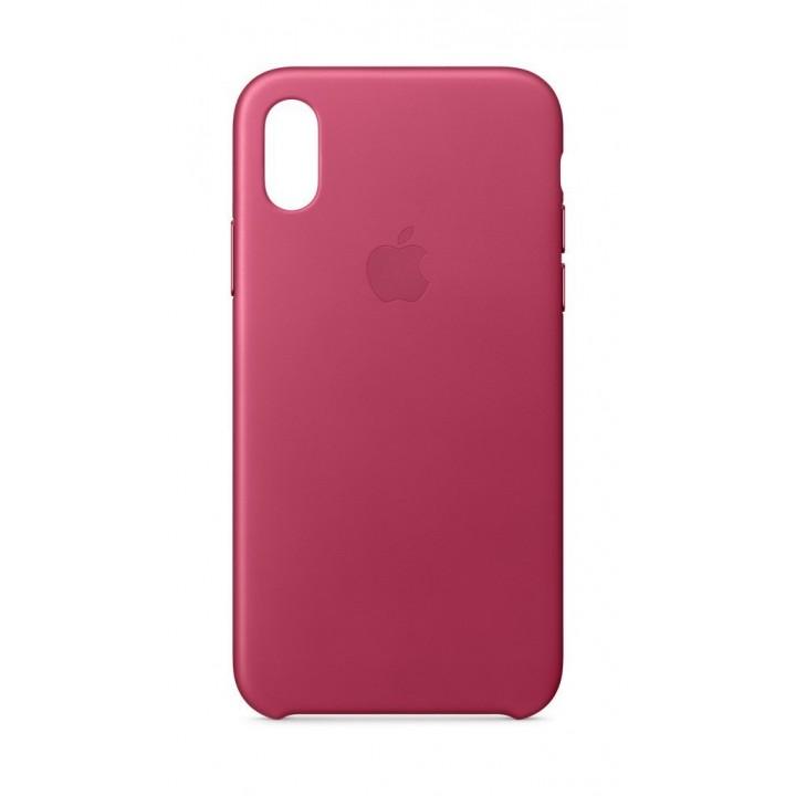 Custodia Apple In Pelle Per iPhone X - Fucsia
