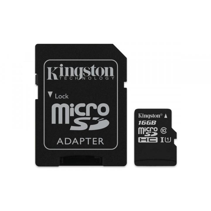microSDHC Kingston Canvas Select 16 GB - Class 10/UHS-I (U1) - 80 MB/s Lettura - 10 MB/s Scrittura