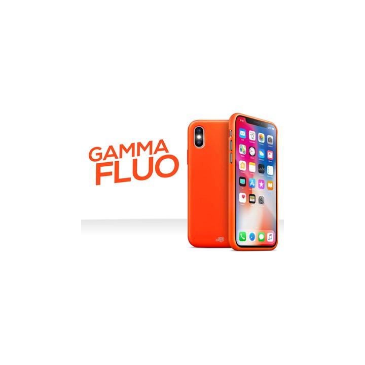 iPhone X - Cover gommata serie Fluo Colore Arancio