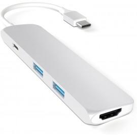 ADATTATORE USB-C SLIM MULTI-PORTA SILVER