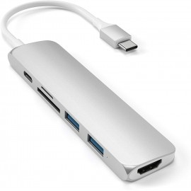 ADATTATORE USB-C SLIM MULTIMEDIA V2 SILVER