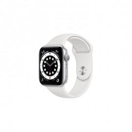 WATCH SERIE 6 GPS 44MM ALLUMINIO ARGENTO - WHITE SPORT BAND