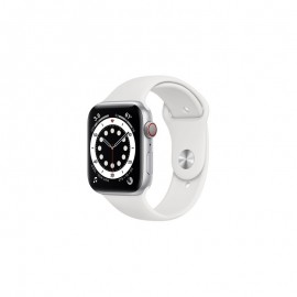WATCH SERIE 6 GPS + CELLULAR 44MM ALLUMINIO ARGENTO - WHITE SPORT BAND
