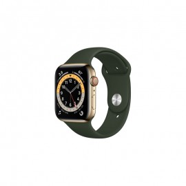 WATCH SERIE 6 GPS + CELLULAR 44MM ACCIAIO ORO - CYPRUS GREEN SPORT BAND
