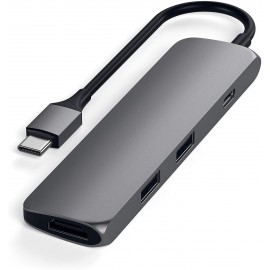 ADATTATORE USB-C SLIM MULTI-PORTA SPACE GRAY