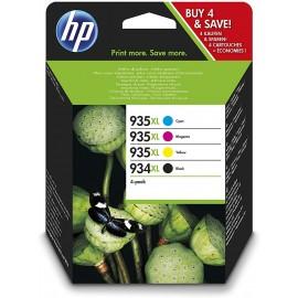HP 934XL/935XL - Confezione da 4 - Alta resa - nero, giallo, ciano, magenta - originale - cartuccia d'inchiostro
